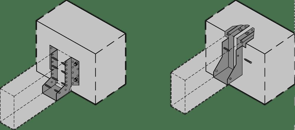 Beispiele für Balkenauflager – ÖNORM EN 845-1