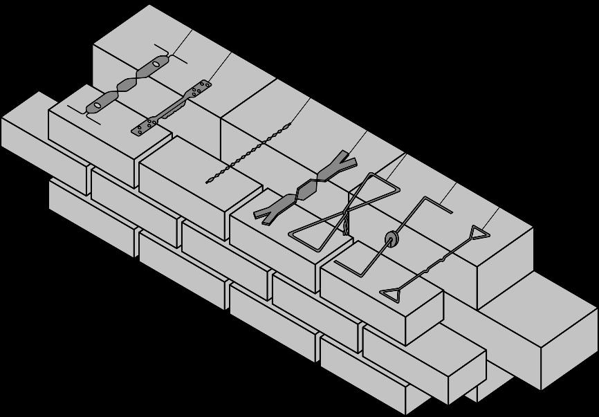 Beispiele für symmetrische Maueranker – ÖNORM EN 845-1