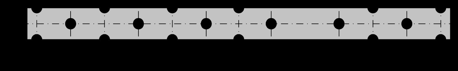 Flachstahlanker 300 *22 *0,75 mm aus nichtrostendem Stahl