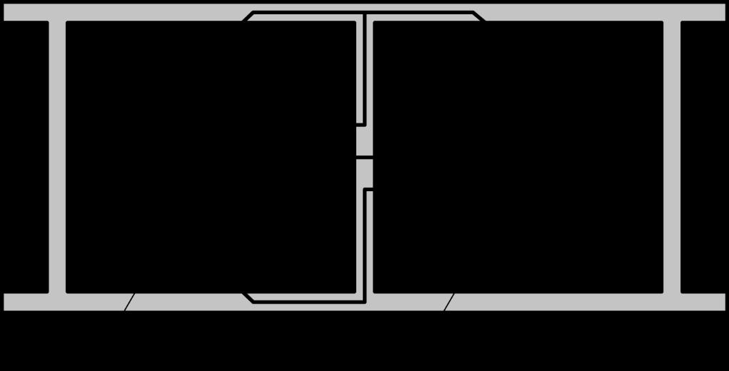 Wege der Schallübertragung zwischen zwei Räumen