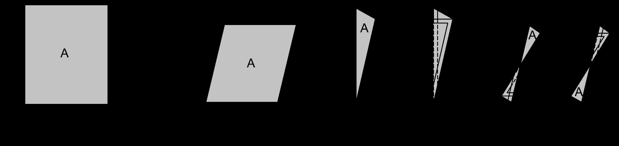Definition von A und H für verschieden geöffnete und gekippte Fenster