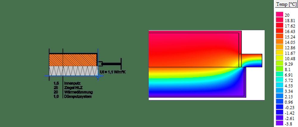 Abbildung 4-17: Anschlussdetail 6 – Anschluss Terrassentüren seitlich