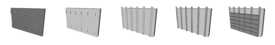Beispiel 7-10: Montageablauf hinterlüftete Ziegel-Fassadenplatten mit vertikalen Tragschienen