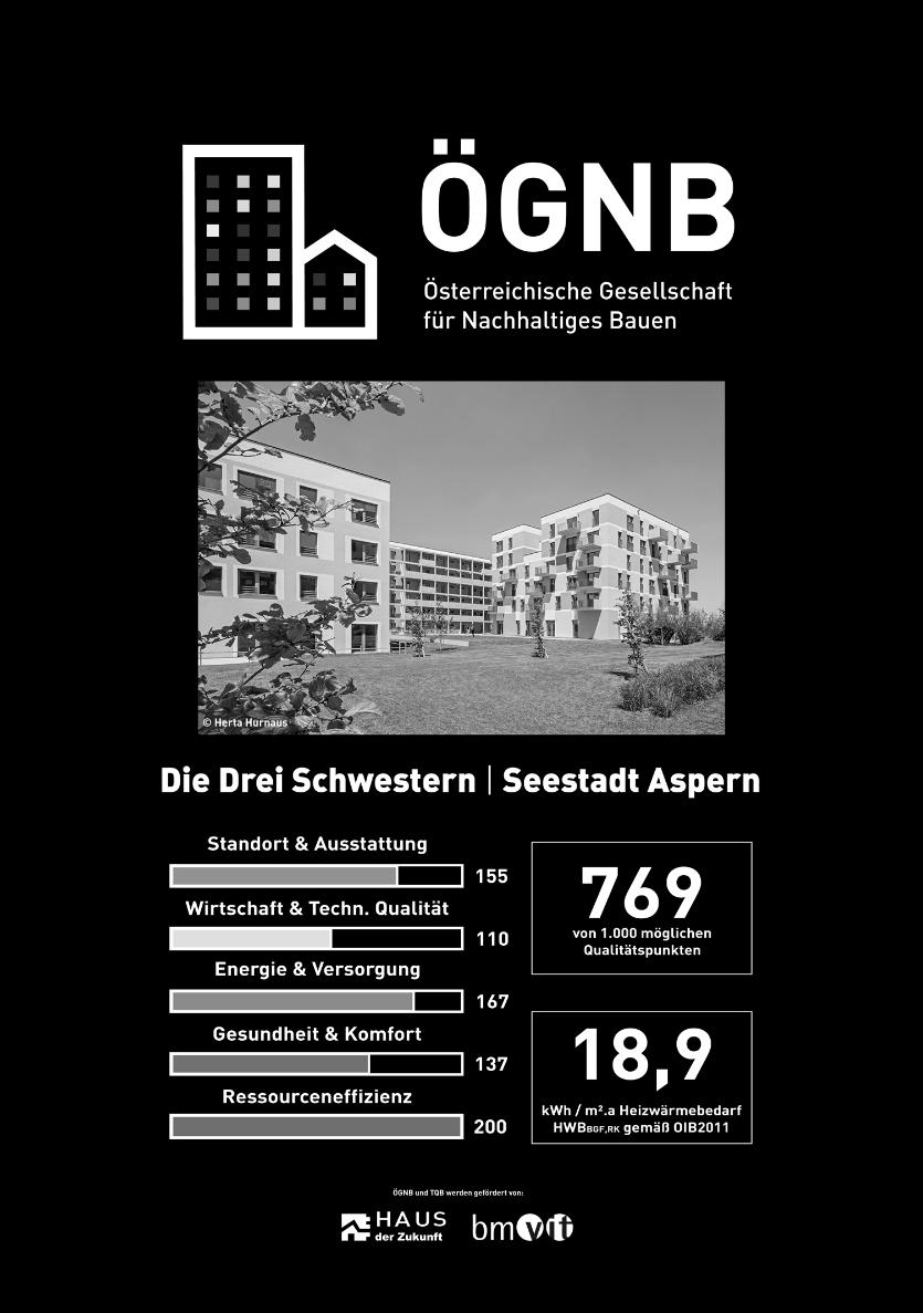 Beispiel 8-22: Ergebnisse der TQ-Bewertung und klimaaktiv-Urkunde der Wohnhausanlage Seestadt Aspern – Wien (Fortsetzung)