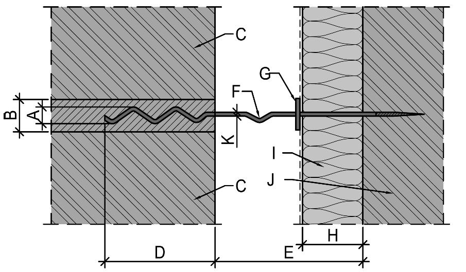 Abmessungen und Begriffe in Bezug auf Maueranker – ÖNORM EN 845-1