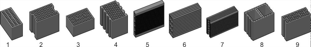 Mauerziegel – Beispiele für P-Ziegel – ÖNORM EN 771-1