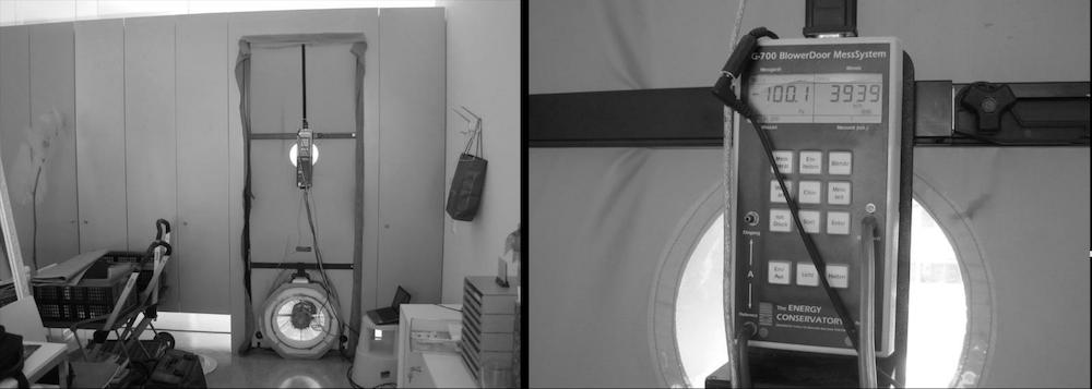 Beispiel 4-01: Blower - Door - Messung