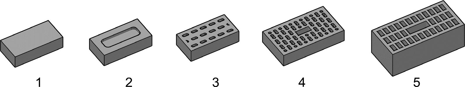 Mauerziegel – Beispiele für U-Ziegel – ÖNORM EN 771-1