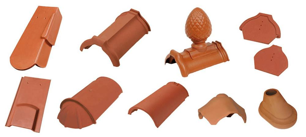 Ziegeldach – Formziegel für Biberschwanzziegel- und Taschendeckungen