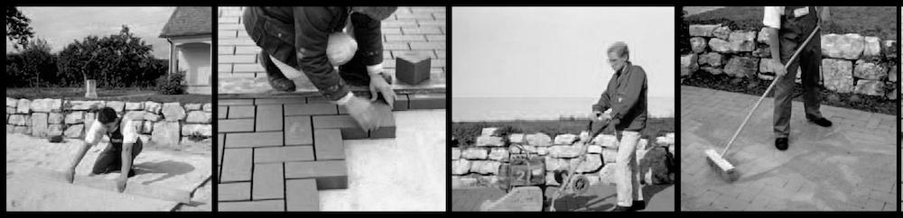 Beispiel 7-18: Ziegelboden in Splittbettverlegung