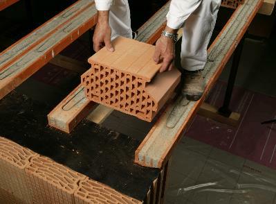 Bild 7-57 bis 62: Montage und Herstellung Ziegeldecke
