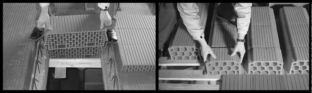 Beispiel 7-17: Ziegeldecken – Verlegen Deckenträger und Einhängeziegel