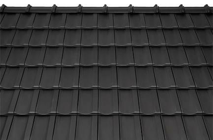Bild 7-71 bis 73: Ziegeldeckung – Dachziegel Mulde weinrot/kupferbraun/schwarz