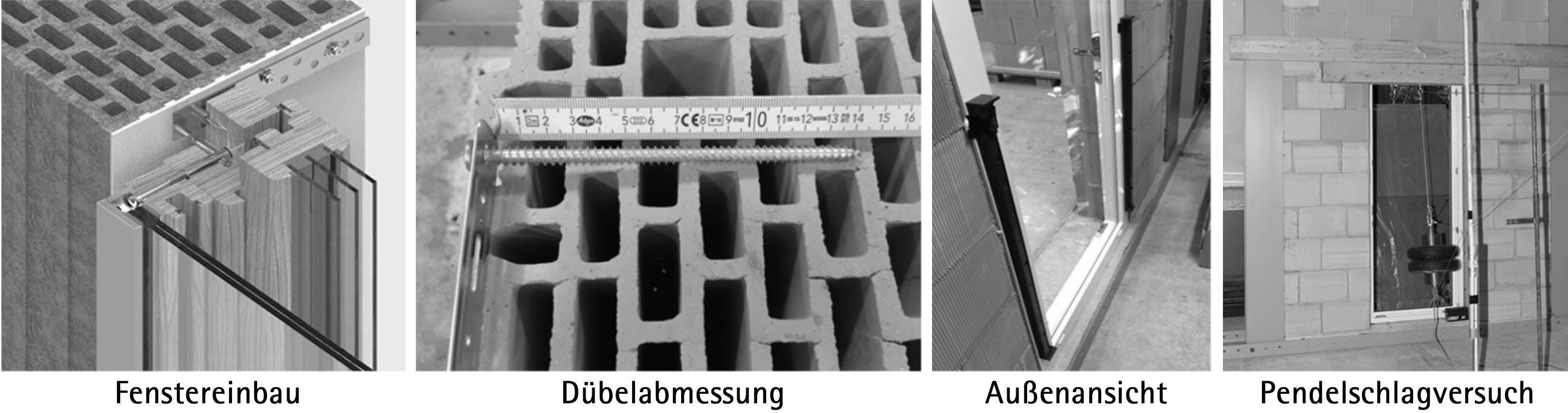 Beispiel 5-03: Prüfung der Absturzsicherung einer Fenstertüre mit Pendelschlagversuch von innen