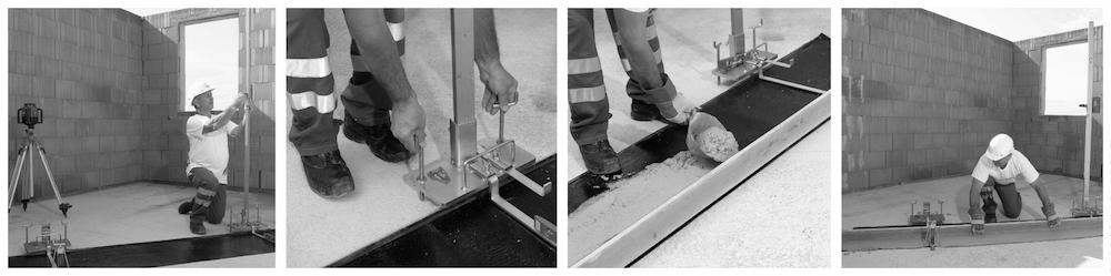 Beispiel 7-05: Planziegelmauerwerk – Mörtelbett für die erste Ziegelschar