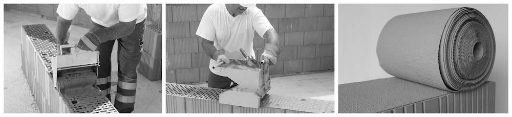 Beispiel 7-06: Planziegelmauerwerk – Auftrag Dünnbettmörtel