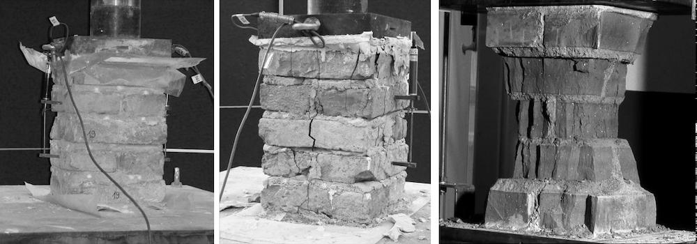 Prüfpfeiler aus Vollziegelmauerwerk