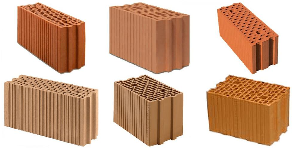 Hochlochziegel mit Wanddicken von 17 bis 25 cm