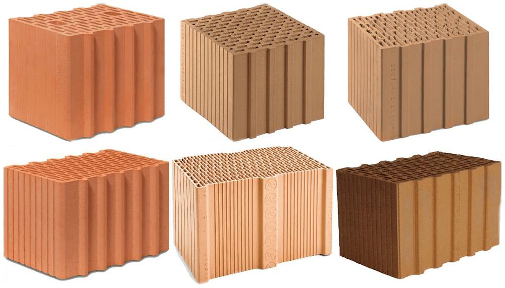 Hochlochziegel mit Wanddicken von 30 bis 38 cm