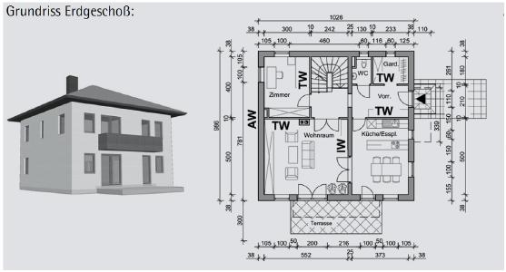 Beispiel 6-16: Brandbemessung nach dem Tabellenverfahren (Teil 1/3)