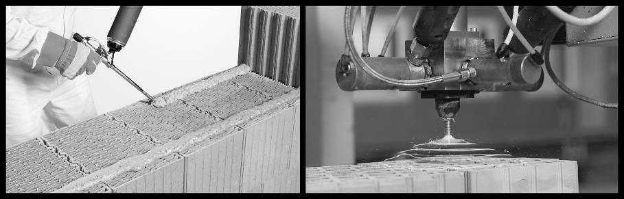 Beispiel 7-07: Kleberauftrag PUR-Planziegelkleber 1K-PUR-Kleber 2K-PUR-Kleber