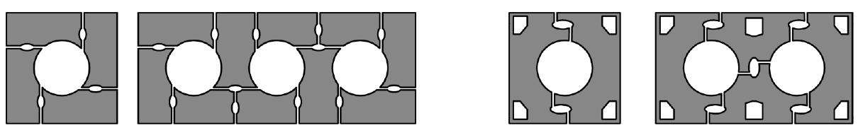 Typische Verlegeschemata Ziegelkamine